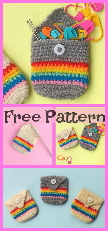 Crochet Pocket Pouches - Free Patterns