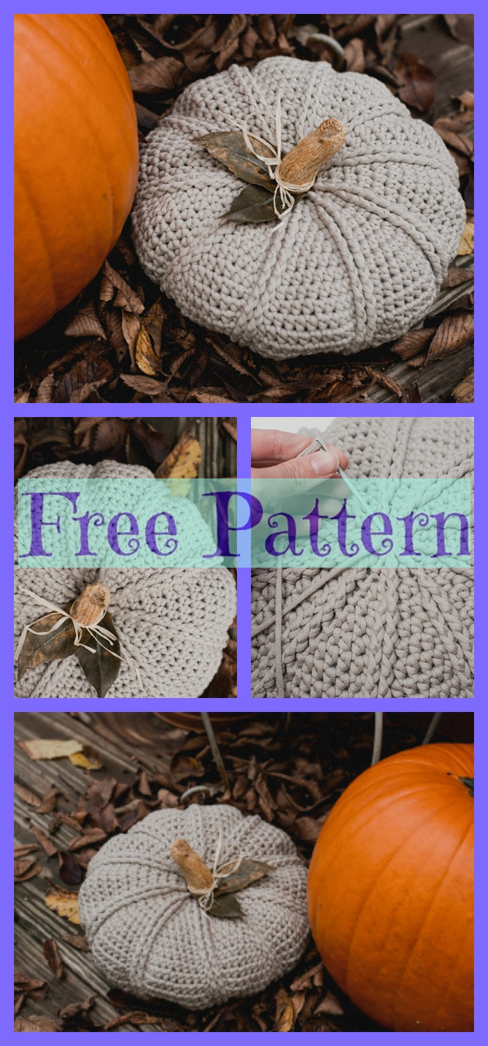 diy4ever- Crochet Pumpkin Decor - Free Patterns