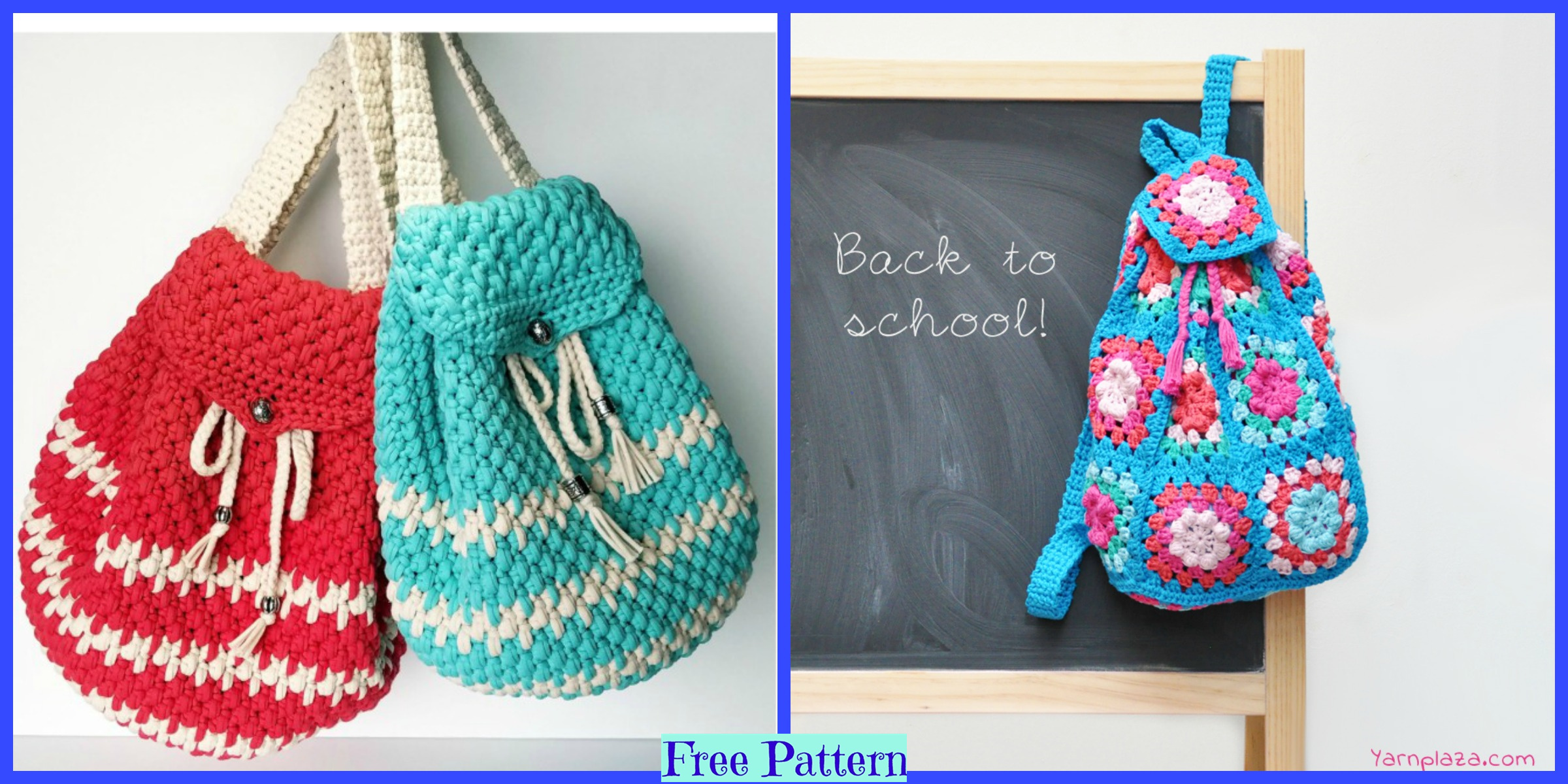 Crochet School Backpack –  Free Patterns