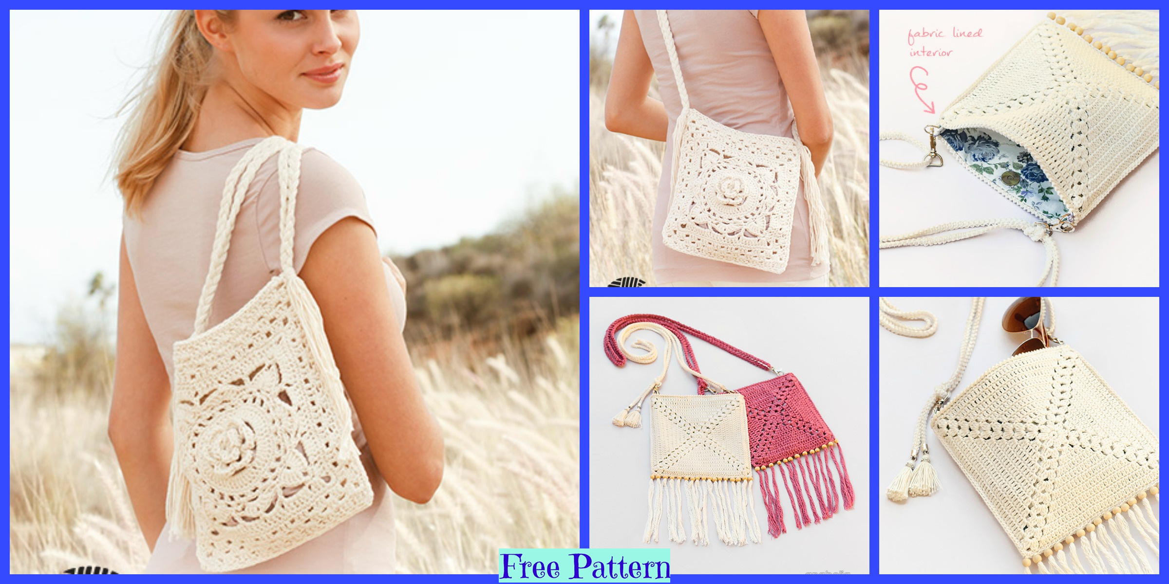 Crochet Shoulder Bags – Free Patterns