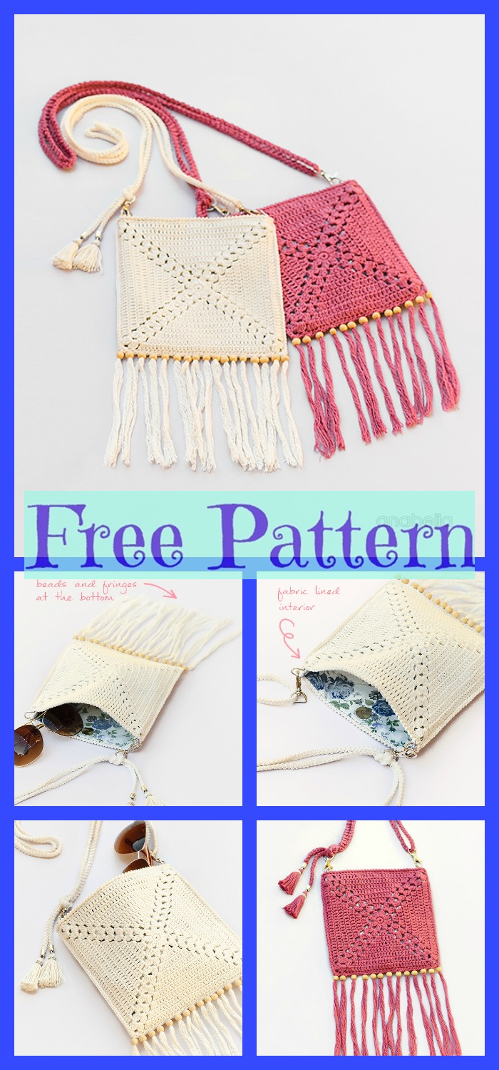 diy4ever-Crochet Shoulder Bags - Free Patterns