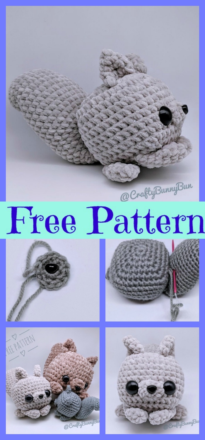 Crochet Squirrel Amigurumi - Free Patterns - DIY 4 EVER | 1500x700