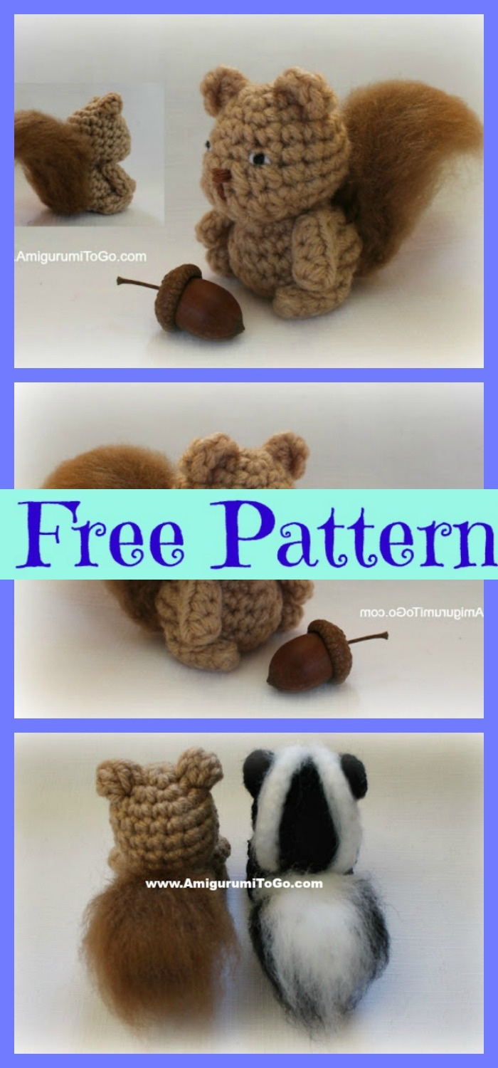 diy4ever-Crochet Squirrel Amigurumi - Free Patterns