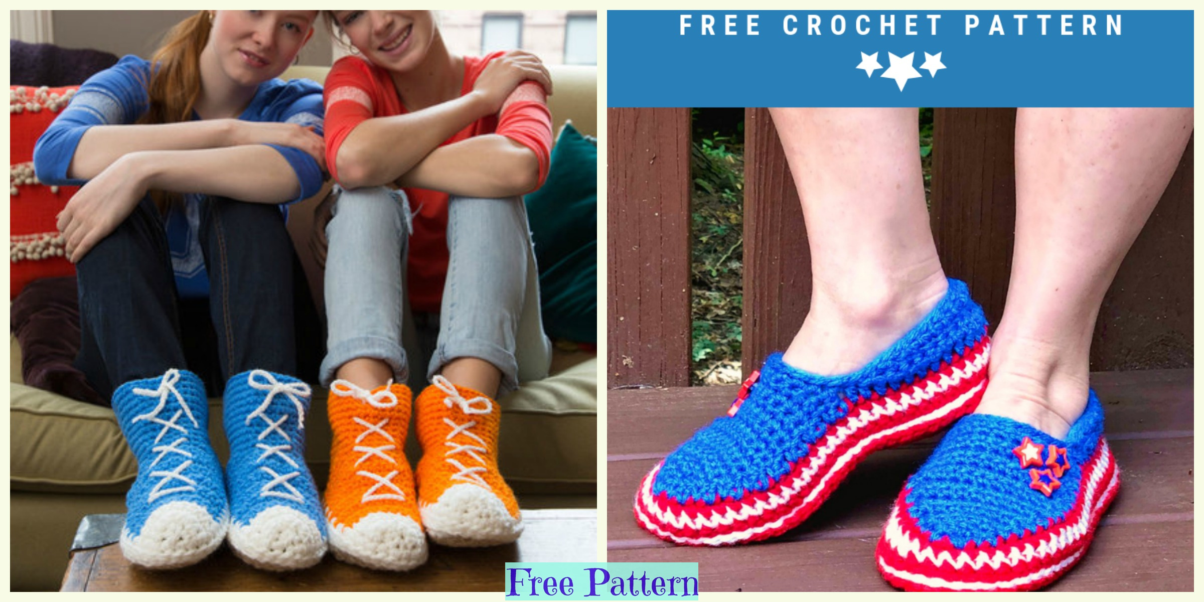 Crochet Unique Slippers – Free Patterns
