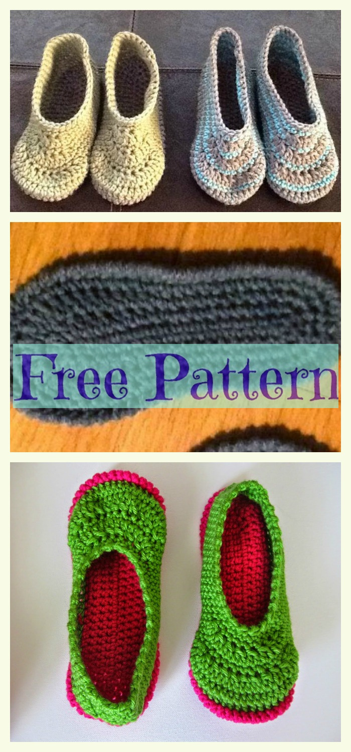 diy4ever- Crochet Unique Slippers - Free Patterns