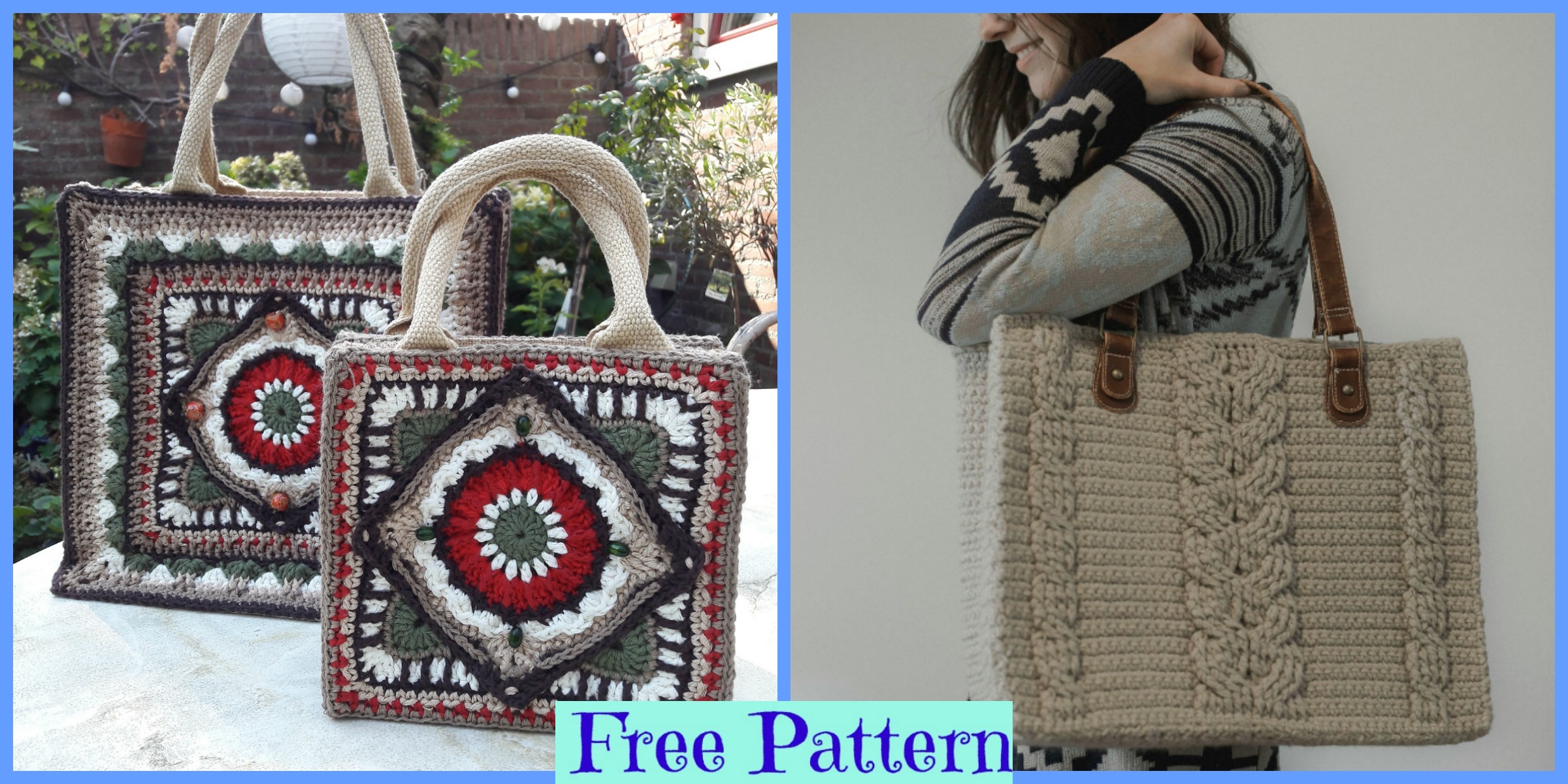 Crochet Unique Tote Bags – Free Patterns