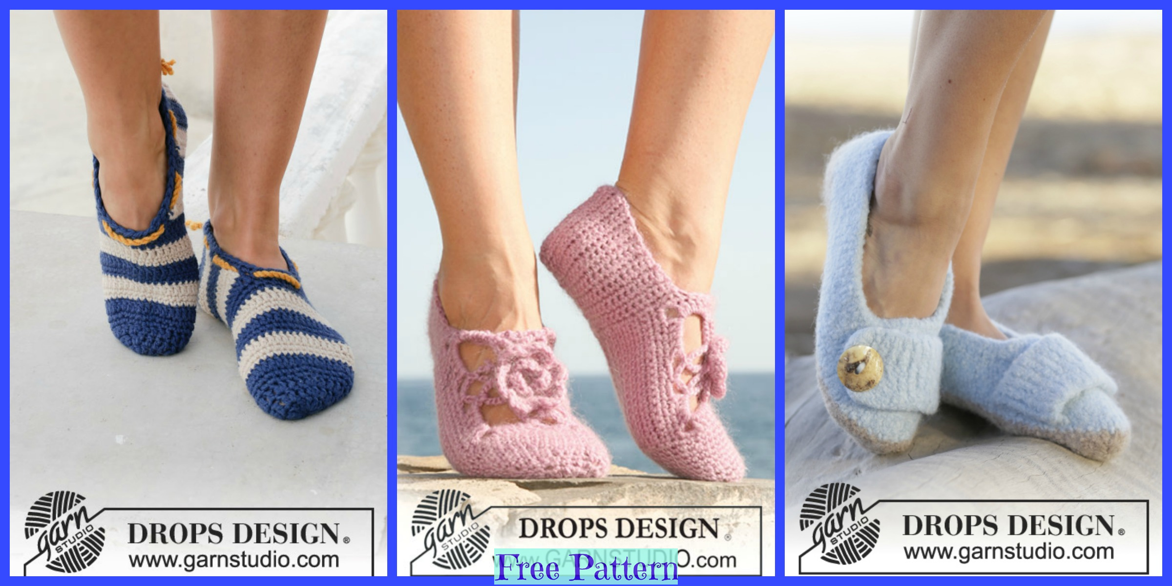 Pretty Crochet Slippers – Free Patterns