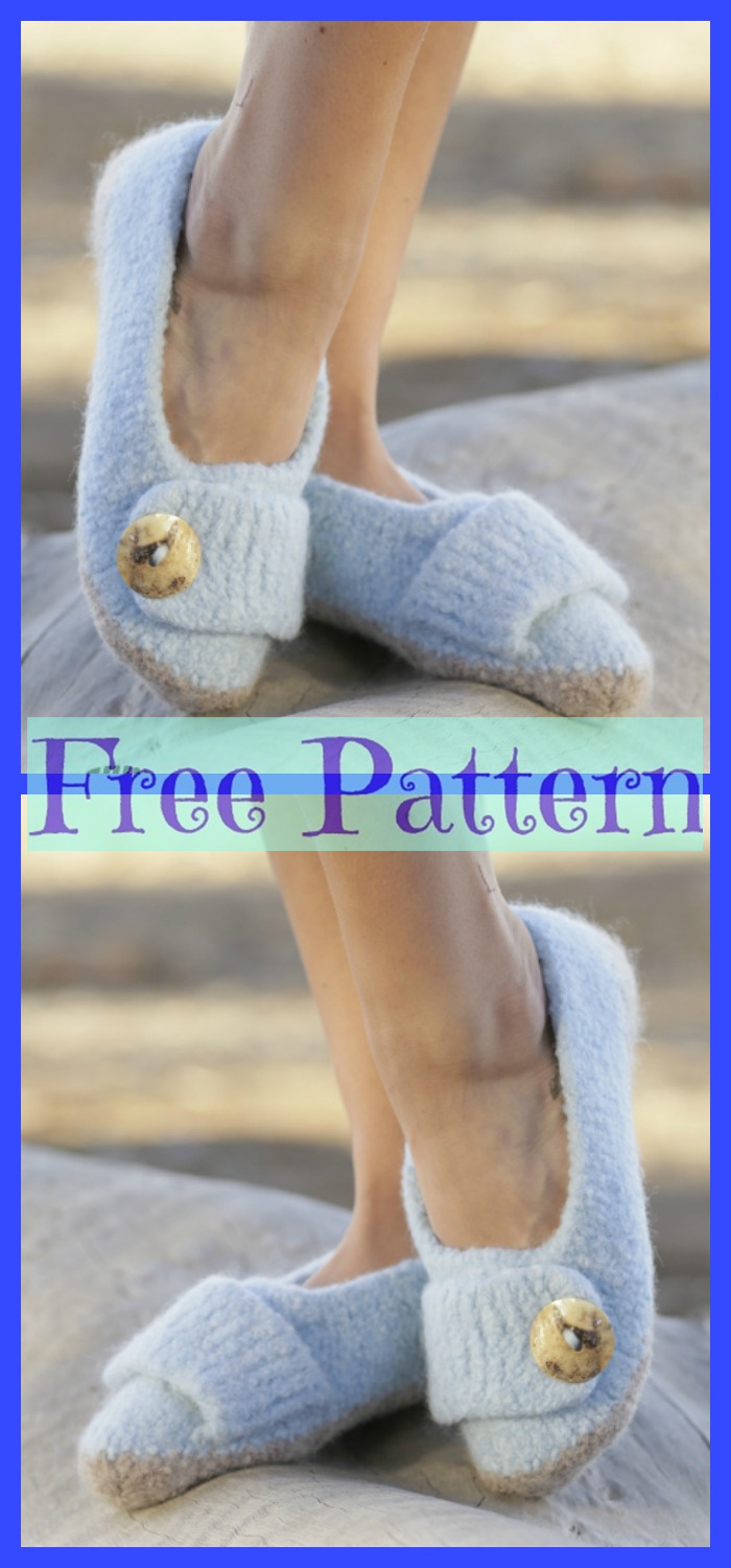 diy4ever-Pretty Crochet Slippers - Free Patterns