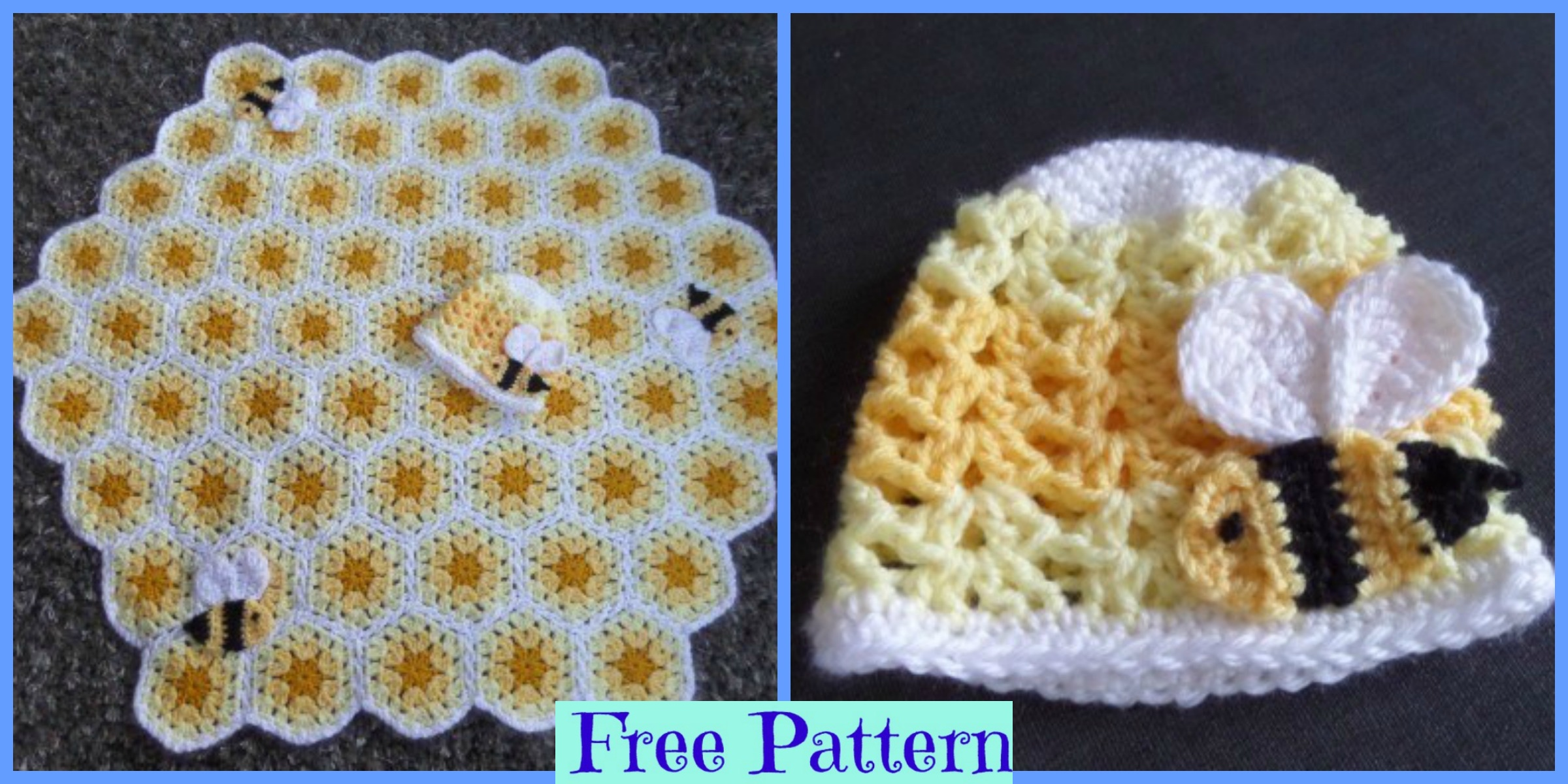Crochet Buzzy Bee Baby Blanket – Free Pattern