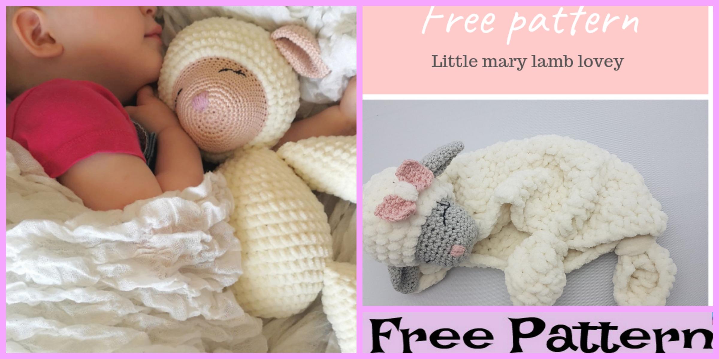 Little Mary Crochet Lamb Lovey – Free Pattern