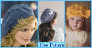 8 Crochet Cute Sun Hat Free Patterns