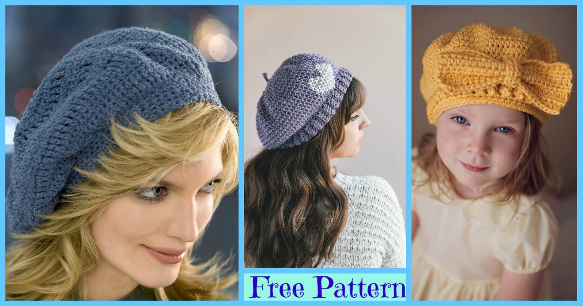 10 Beautiful Crochet Berets – Free Patterns