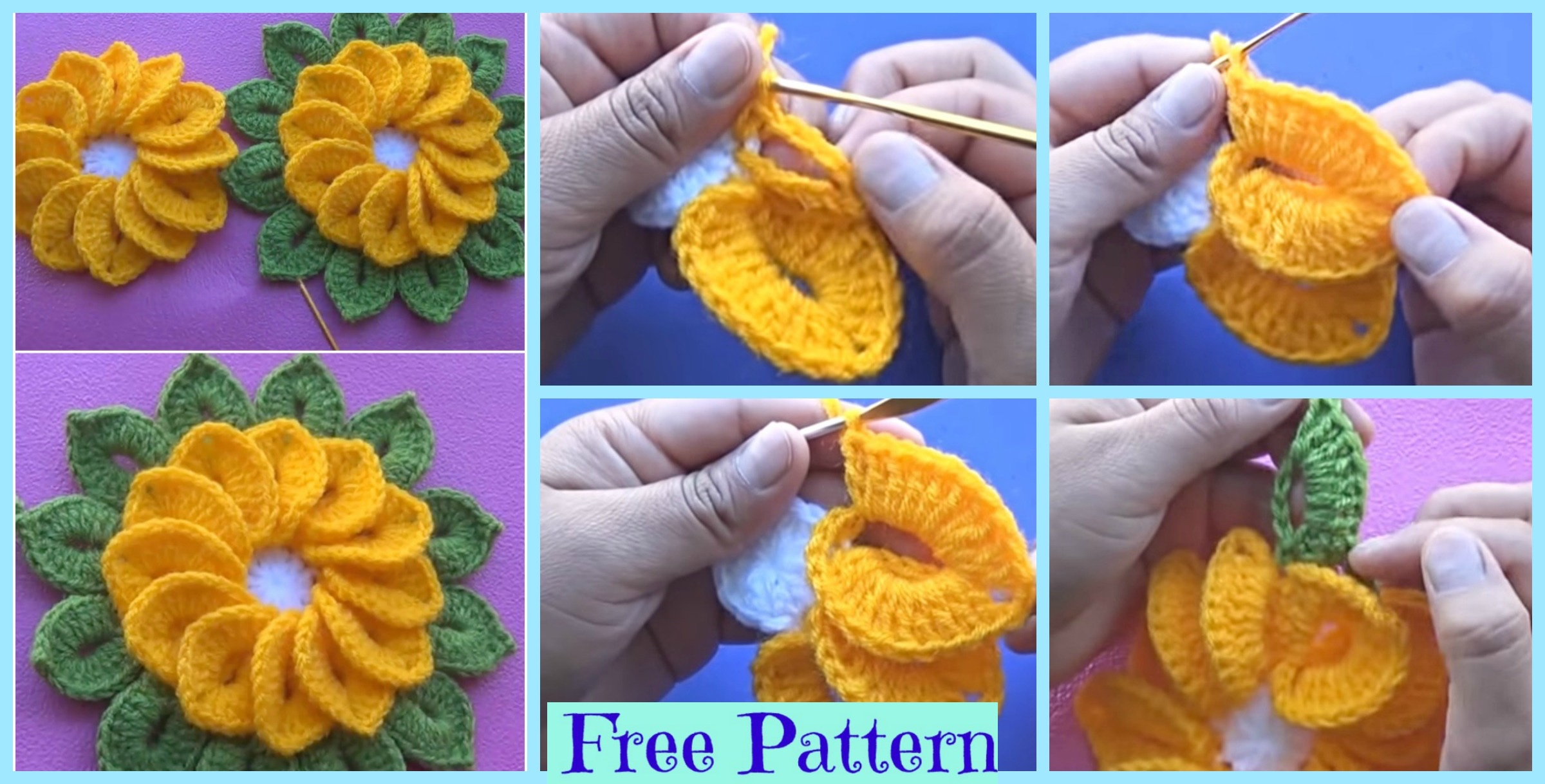 Unique Crochet 12 Petal  Flowers – Free Pattern