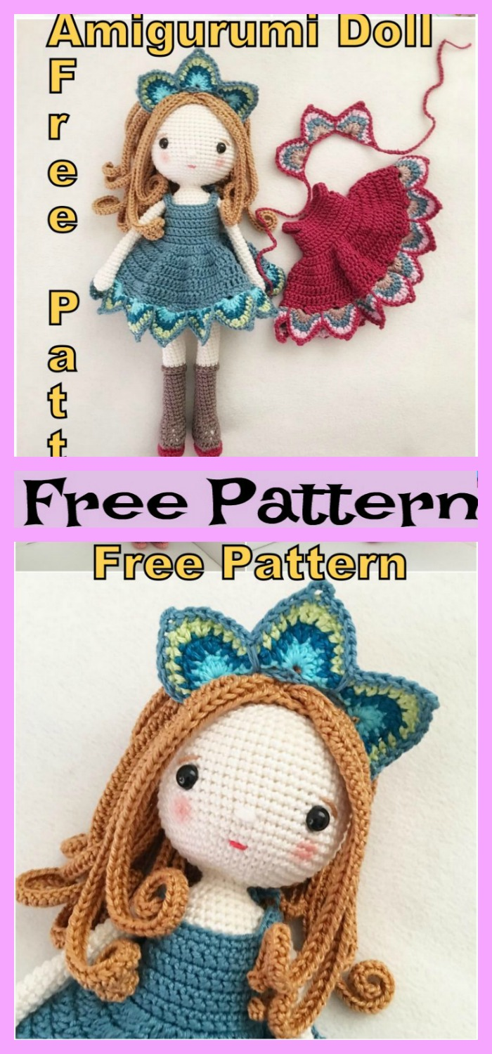 diy4ever- Crochet  Amigurumi Lady Peacock - Free Pattern