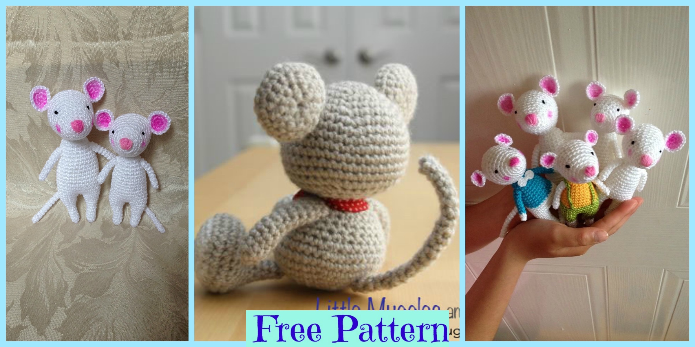 Sweet mouse free crochet pattern | Crochet mouse, Crochet patterns ... | 1200x2400