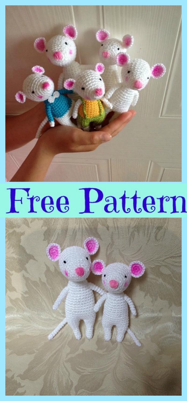 diy4ever-Crochet Amigurumi Mouse - Free Patterns