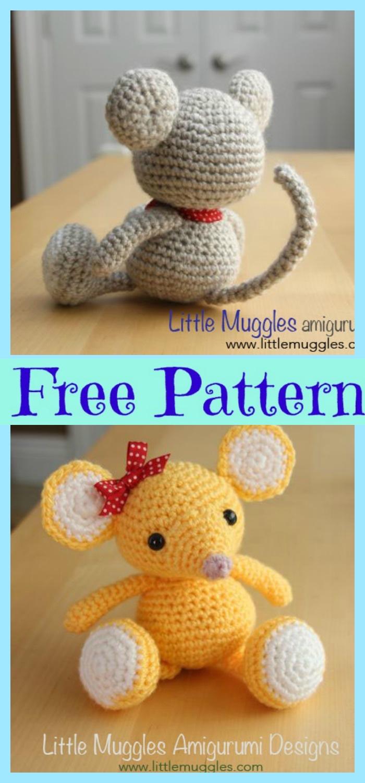 POCKET MOUSE Crochet Pattern | Etsy | 1500x700