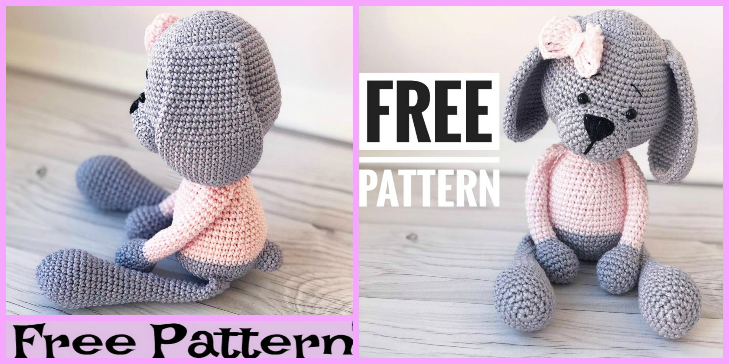 Crochet Amigurumi Sweet Dog – Free Pattern