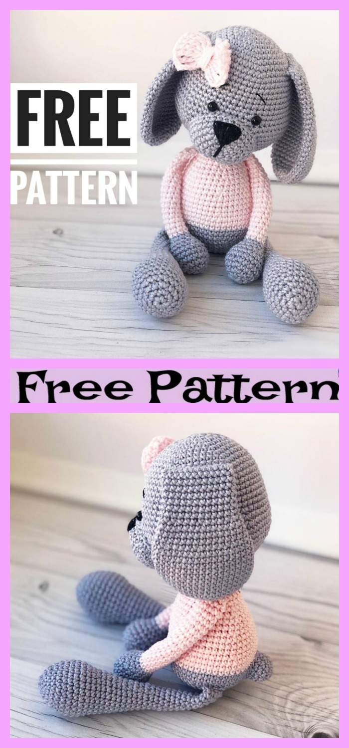 diy4ever- Crochet Amigurumi Sweet Dog - Free Pattern