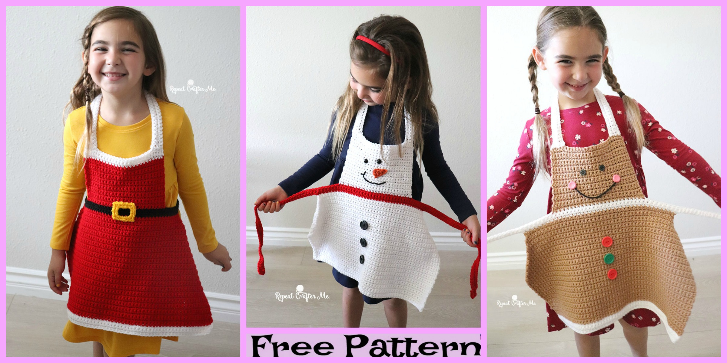 Crochet Christmas Aprons – Free Patterns