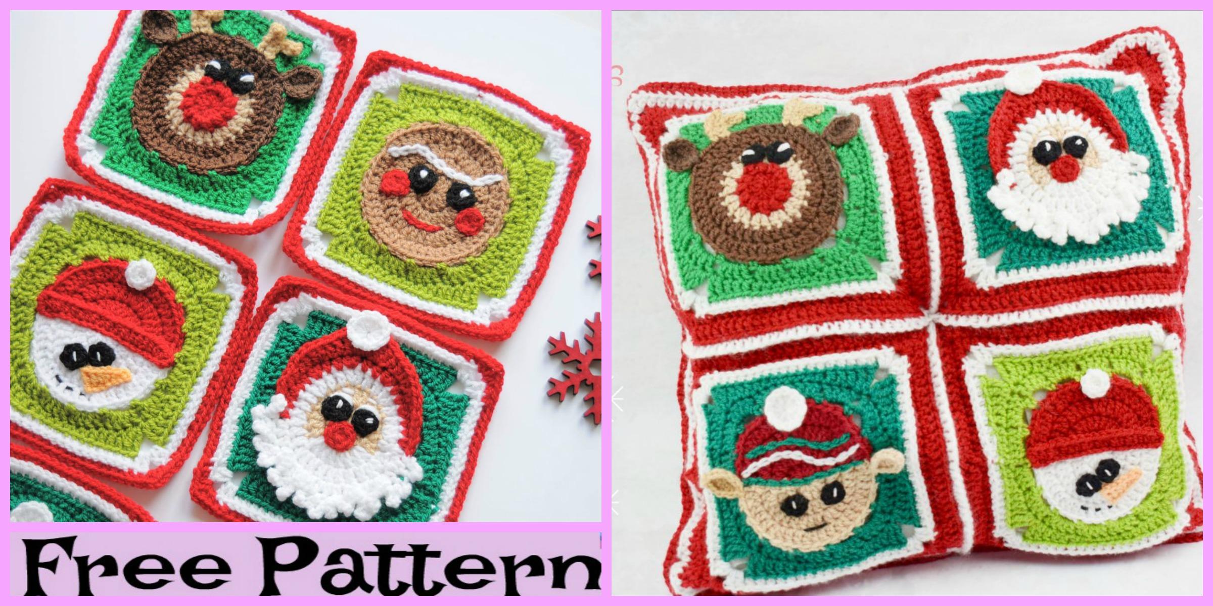 diy4ever-Crochet Christmas Granny Squares - Free Pattern