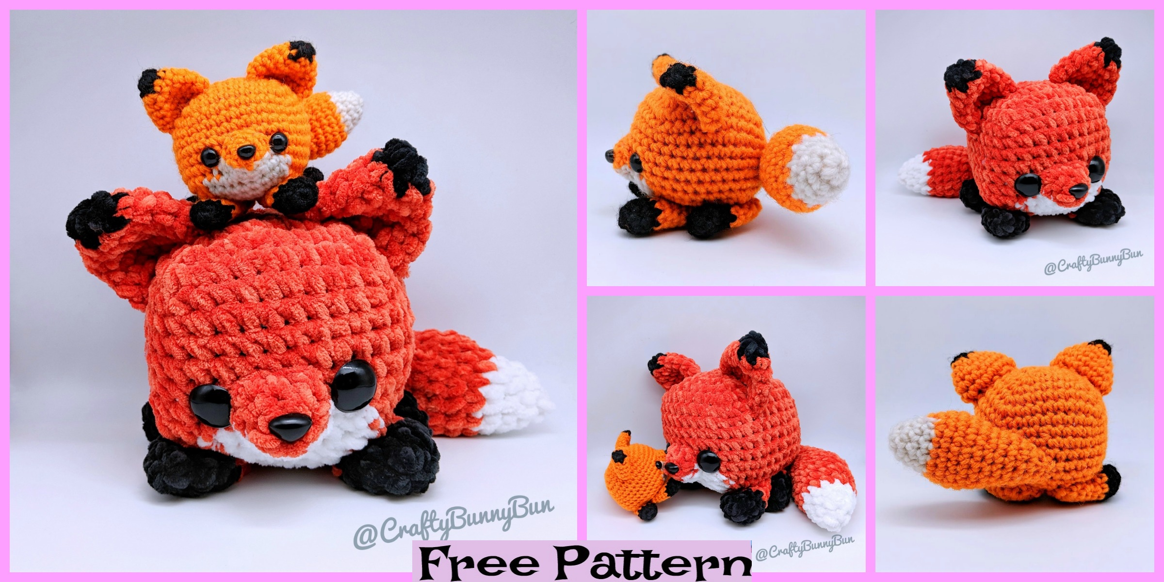 Crochet pattern bundle - Crochet fox teether and toy - amigurumi fox pattern,  crochet pattern rattle, teetheng ring fox | Easy crochet patterns, Crochet  fox, Fox pattern | 1200x2400