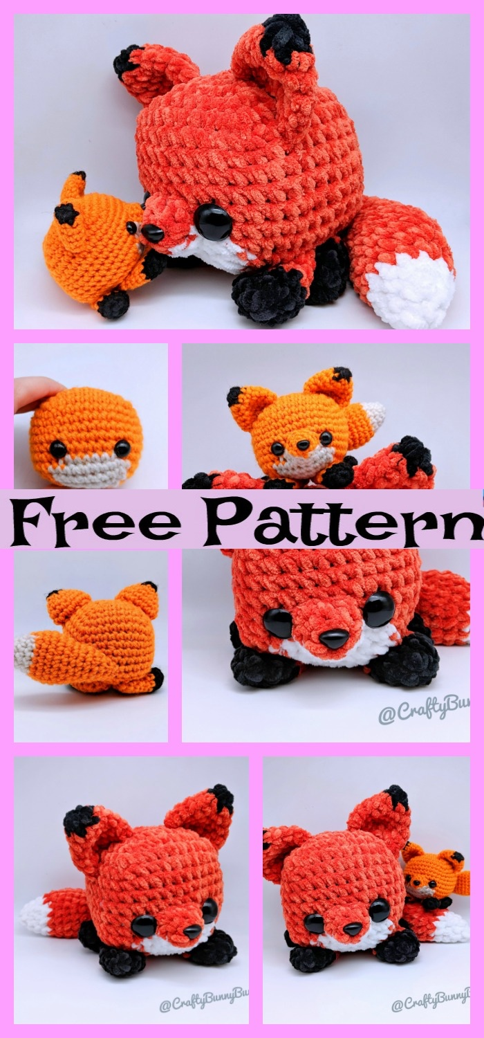 diy4ever-Crochet Cube Fox Amigurumi - Free Pattern