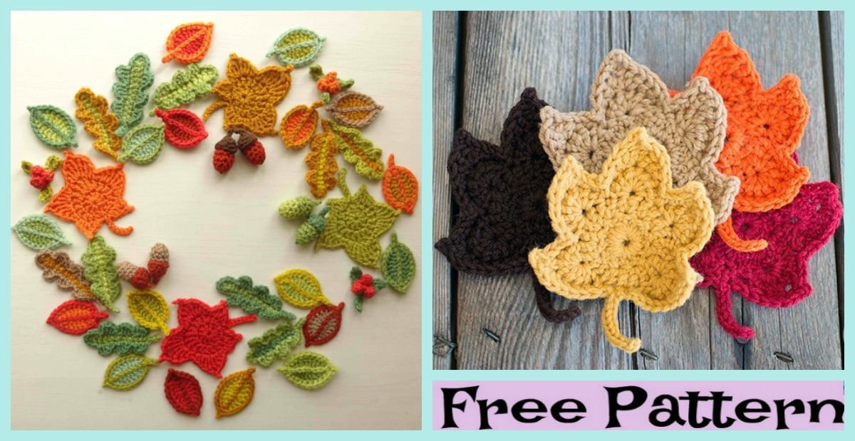 Beautiful Crochet Fall Leaves – Free Patterns