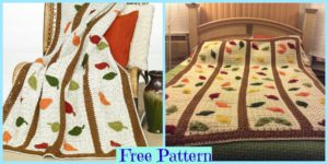diy4ever-Crochet Falling Leaf Afghan - Free Pattern