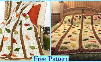 diy4ever-Crochet Falling Leaf Afghan - Free Pattern