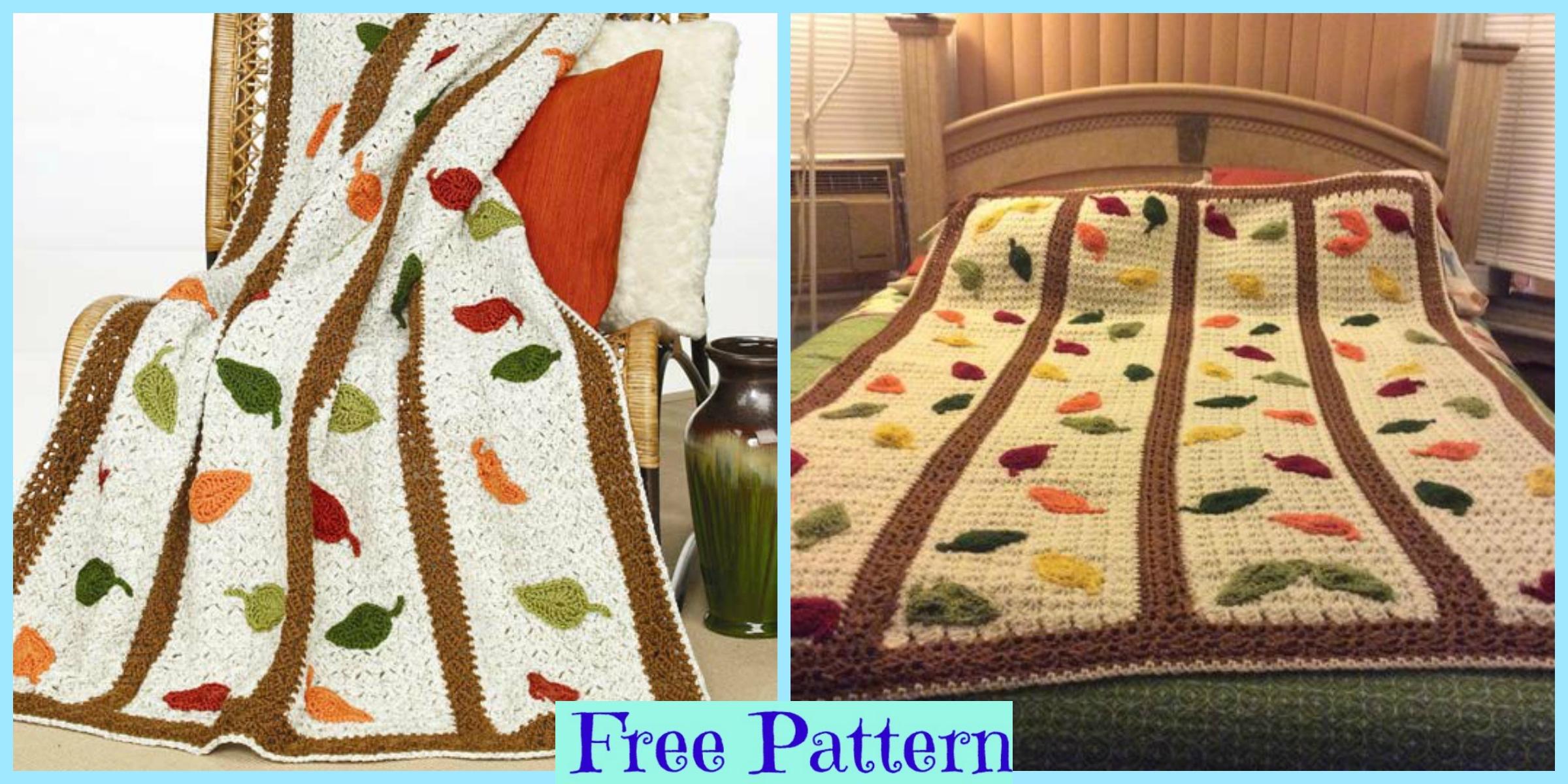 Crochet Falling Leaf Afghan – Free Pattern