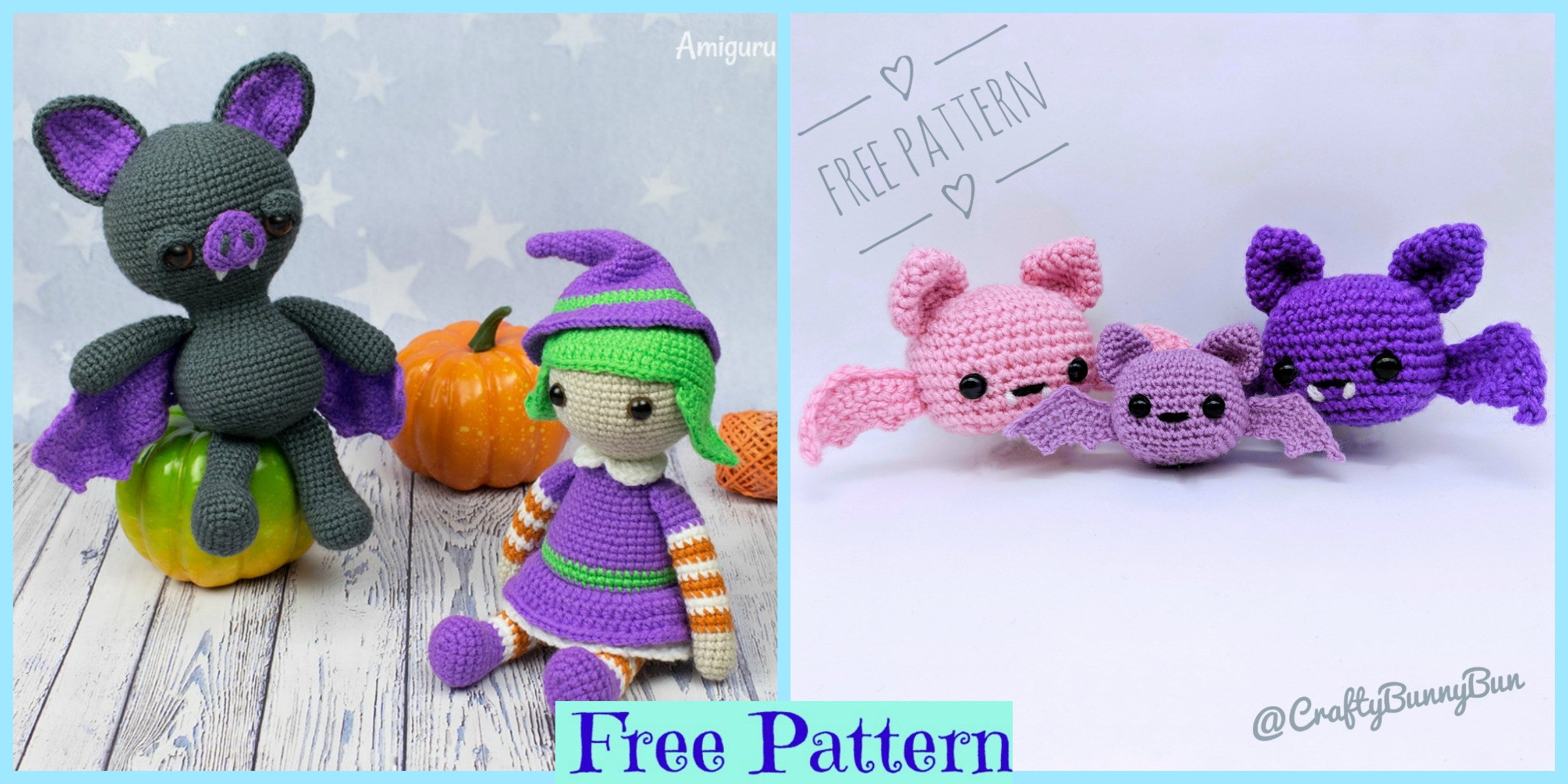Crochet Halloween Bat Amigurumi – Free Patterns