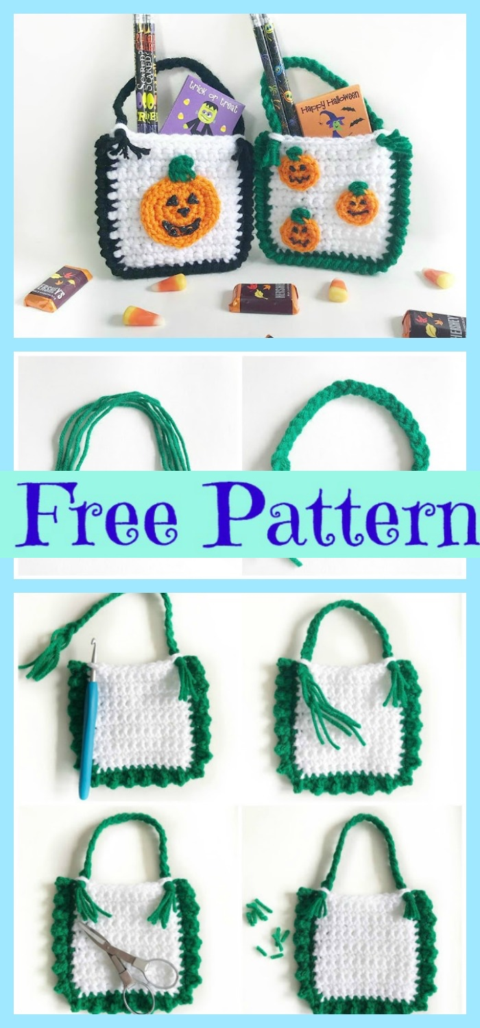 diy4ever-Crochet Halloween Treat Bags - Free Patterns