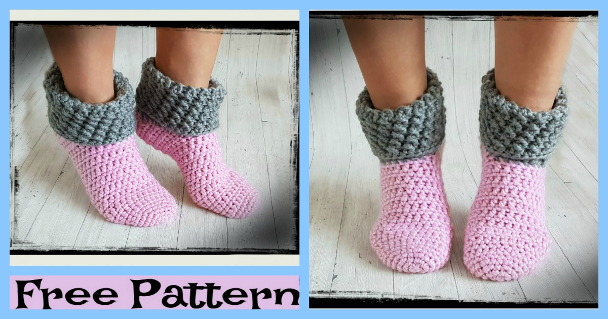 Unique Crochet Home Socks – Free Pattern