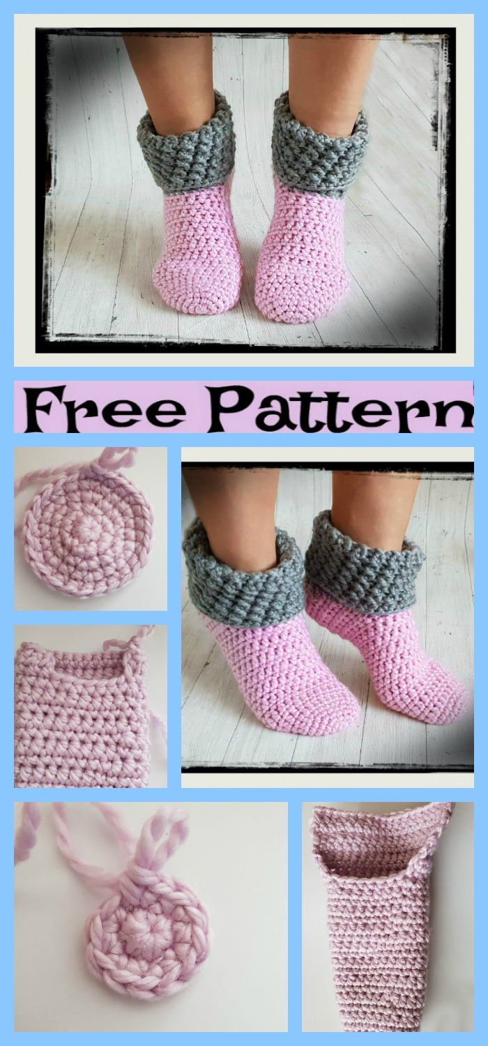 diy4ever-Crochet Home Socks - Free Pattern