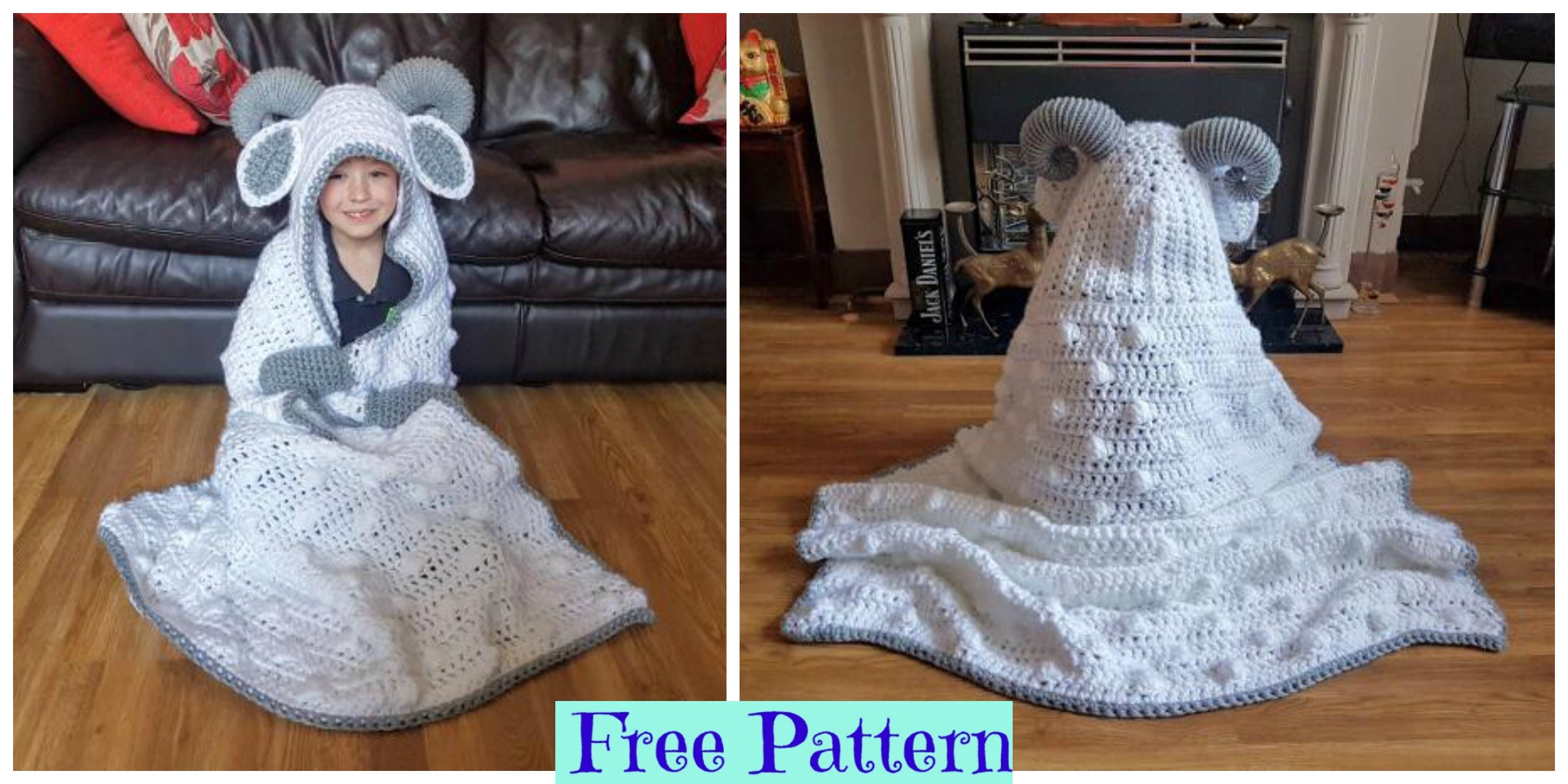 Crochet Hooded Sheep Blanket – Free Pattern