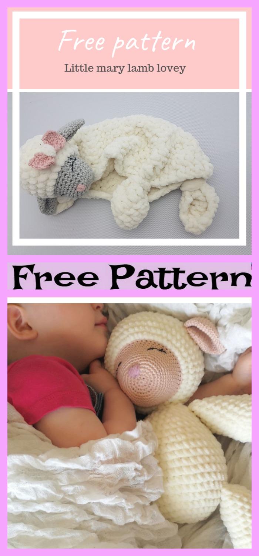 diy4ever-Crochet Lamb Lovey - Free Pattern