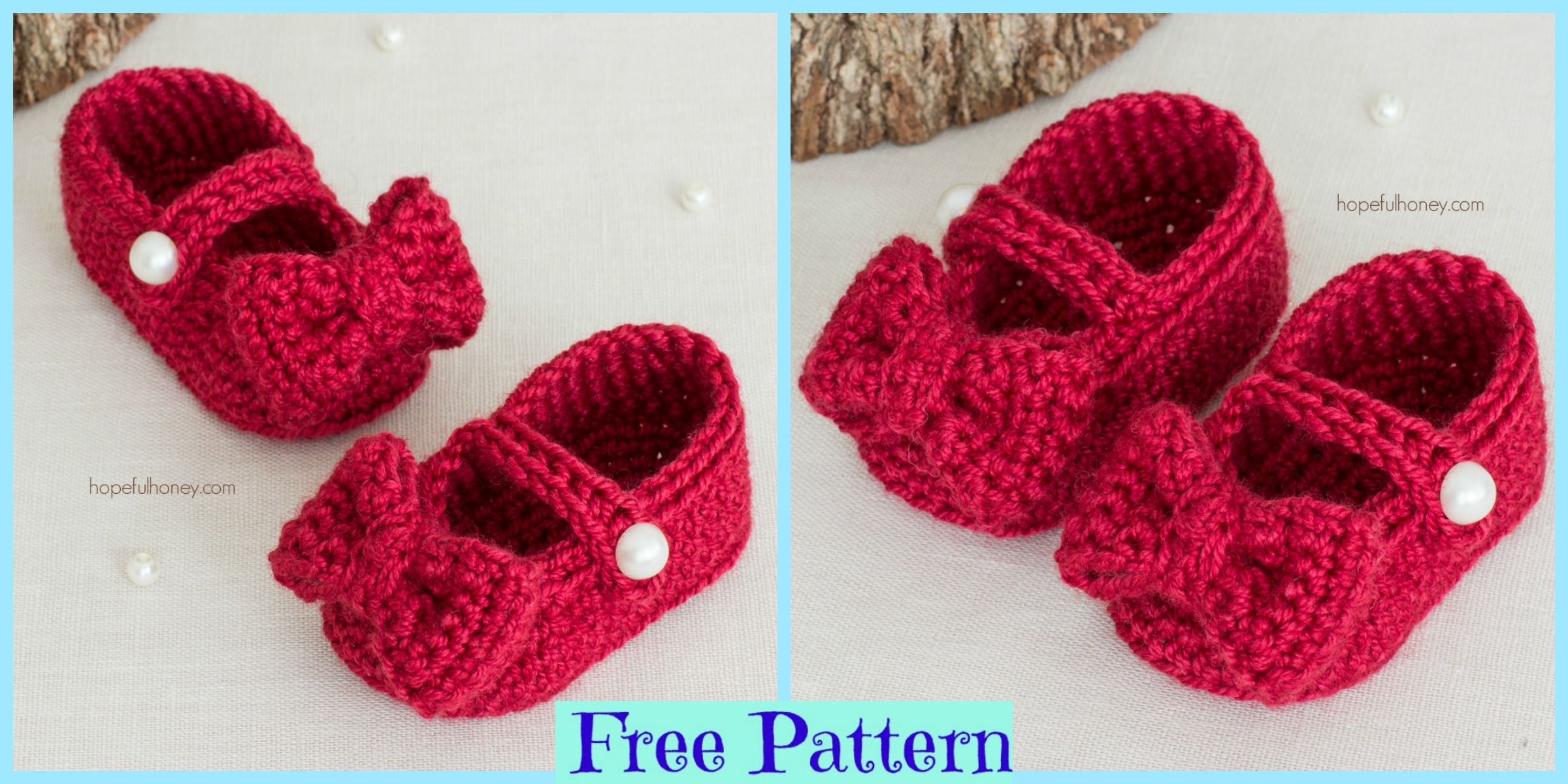 Red Crochet Mary Jane Booties – Free Pattern