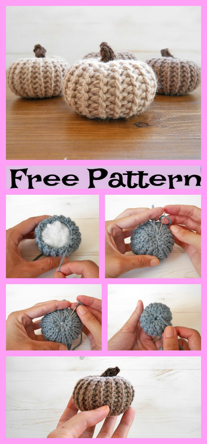 diy4ever-Crochet Mini Pumpkin - Free pattern