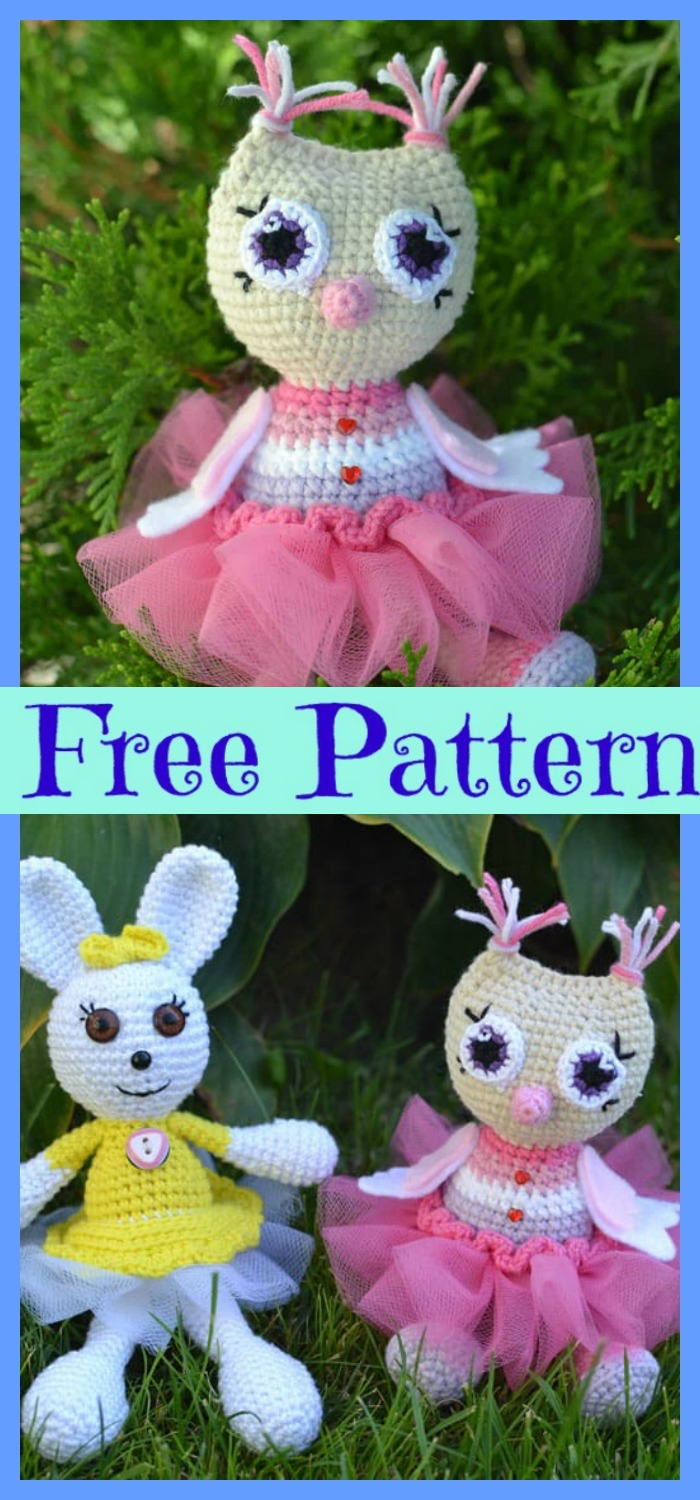 diy4ever-Crochet Owl Princess Amigurum