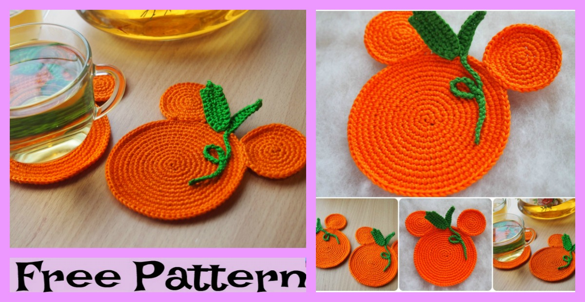 Crochet Pumpkin Coasters –  Free Pattern
