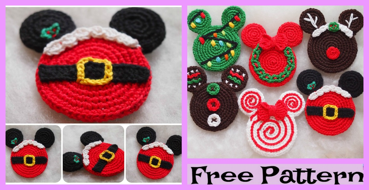 Crochet Santa Mouse Ears – Free Pattern