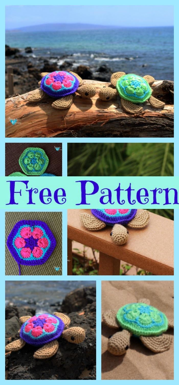diy4ever-Crochet Sea Turtle Amigurumi - Free Pattern