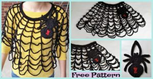 diy4ever-Crochet Spider Web Poncho - Free Pattern