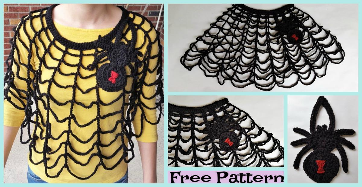 Crochet Spider Web Poncho – Free Pattern
