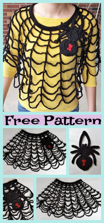 diy4ever-Crochet Spider Web Poncho - Free Pattern