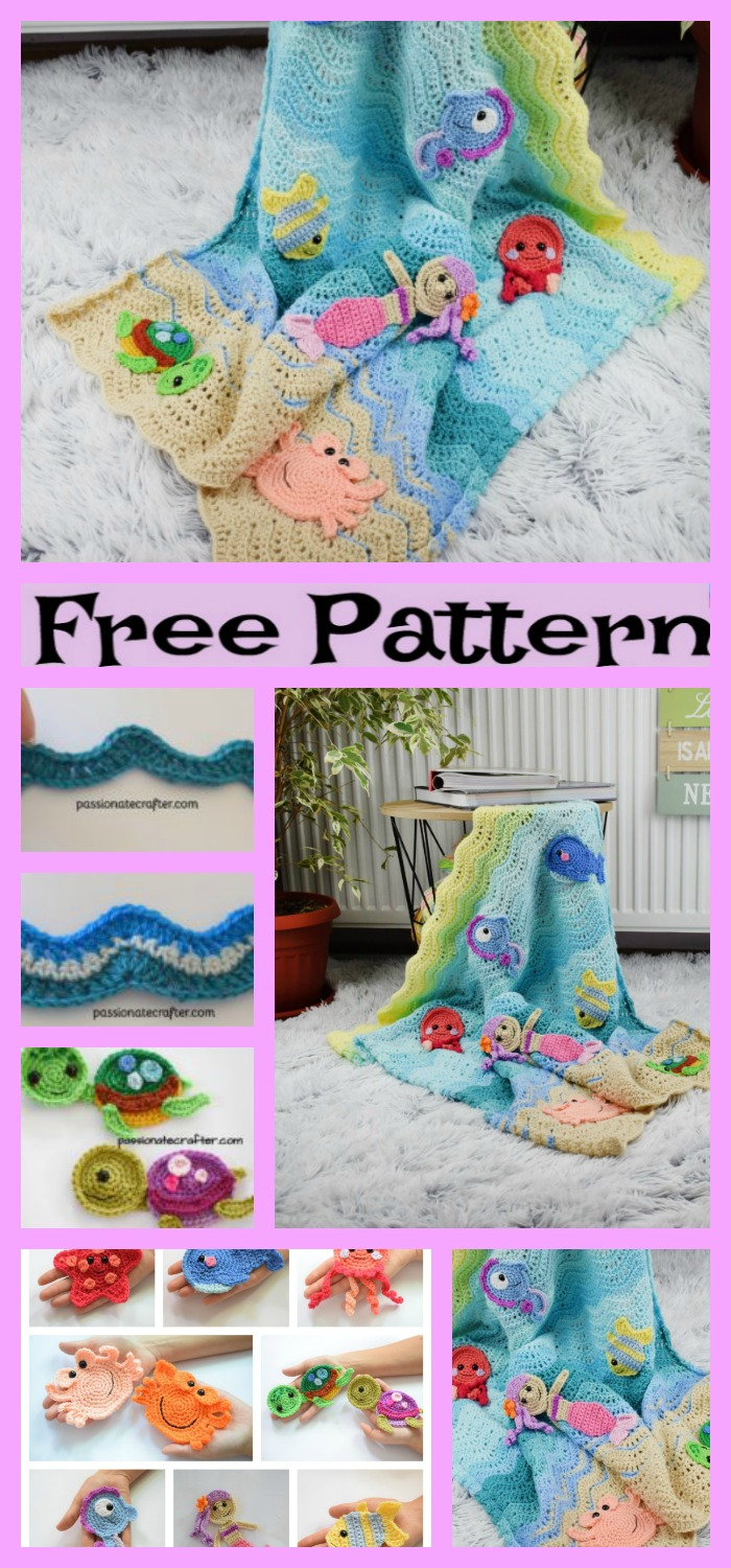 diy4ever-Crochet Undersea Baby Blanket- Free Pattern