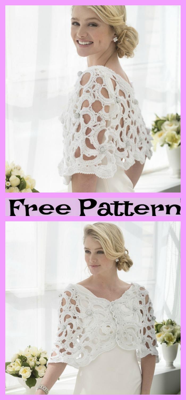 diy4ever-Crochet Wedding Capelet - Free Pattern