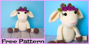 diy4ever-Cute Crochet Goat Amigurumi - Free Pattern