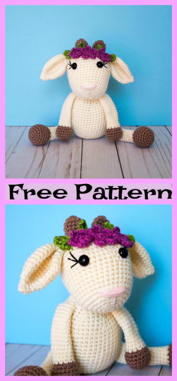 diy4ever-Cute Crochet Goat Amigurumi - Free Pattern